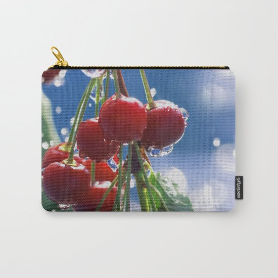 Summer rain on cherries Carry-All Pouch