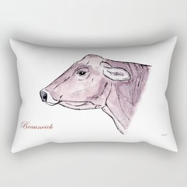 Braunvieh   Alpine cow Rectangular Pillow