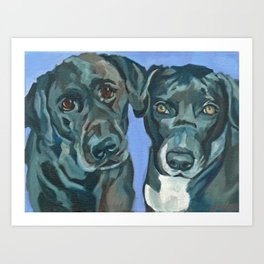 Emily and Annabel Dog Portrait Art Print