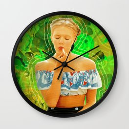 Lolita in Green Wall Clock