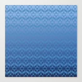 Blue Weaves Pattern Canvas Print
