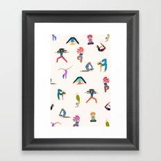 yoga lovers Framed Art Print
