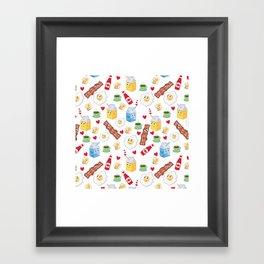 Breakfast in Love Framed Art Print