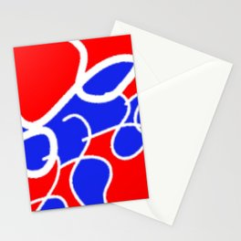 Tile #2 Red-White Line Art on Red Stationery Cards