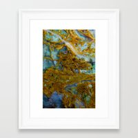 tie dye Framed Art Prints featuring Tie Dye by Ian Bevington