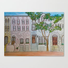 Brownstones Canvas Print