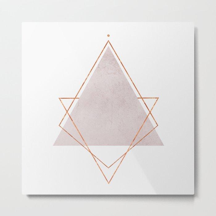 BLUSH COPPER ROSE GOLD GEOMETRIC SYNDROME Metal Print