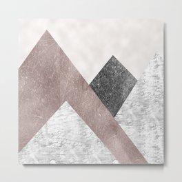 Rose grunge - mountains Metal Print