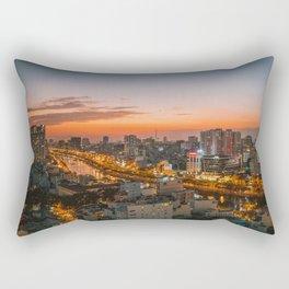 Moi Ho Chi in Vietnam Sunset Landscape Rectangular Pillow