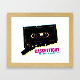 Cassetticut: The Old School State Framed Art Print