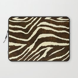 ZEBRA IN WINTER BROWN AND WHITE Laptop Sleeve