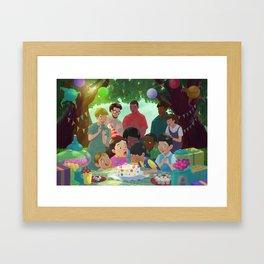 Blowing up cadles! Framed Art Print