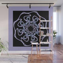 Hope Flower Mandala - Lavender Black Framed Wall Mural