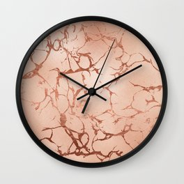 Modern abstract rose gold glitter stylish marble Wall Clock