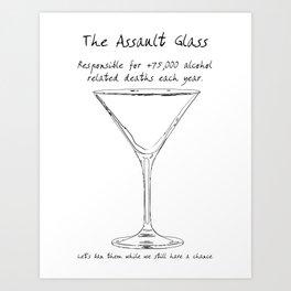 Assault Glass Art Print