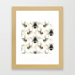 Bees an Honeycombs Framed Art Print