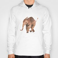 low poly Hoodies featuring Low Poly Elephant by The animals moved to - society6.com/dian