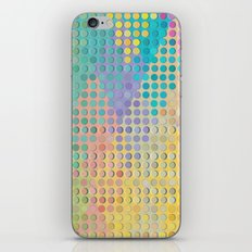 Colorful diamond hole punch iPhone & iPod Skin