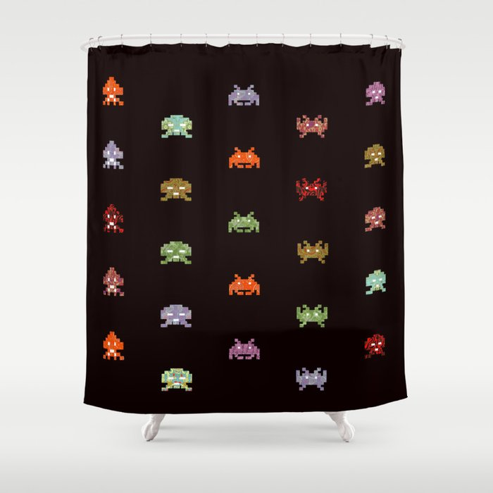 envahisseur 5 Shower Curtain