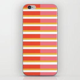 Blush Bright Stripe iPhone Skin