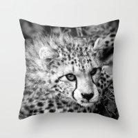 cheetah Throw Pillows featuring Cheetah by Mark Nelson