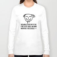 philosophy Long Sleeve T-shirts featuring Life Philosophy (Anonymous) Wall Art01 Black by Chicca Besso