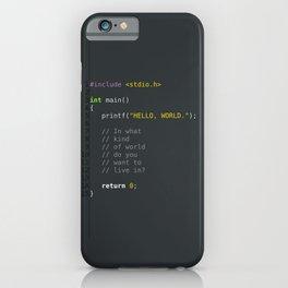 programmer's choice, C nerd. iPhone Case