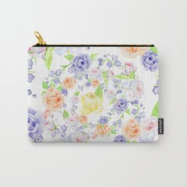 Bouquet of Orange AND Blue rose - wreath Carry-All Pouch