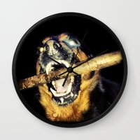 mad max Wall Clocks featuring Mad Max by LiS Fotografie