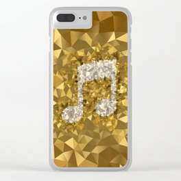 POLYNOID Music / Gold Edition Clear iPhone Case
