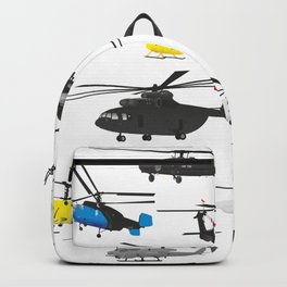 Multiple Helicopters Backpack