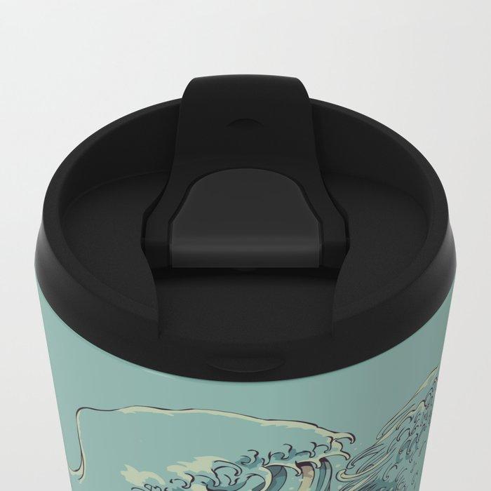 Kissing The Wave Metal Travel Mug