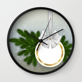 Christmas tag Wall Clock