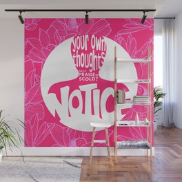 Notice – Wow Pink (Lotus Pattern) Wall Mural
