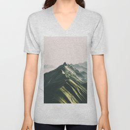 Green Mountains Unisex V-Neck