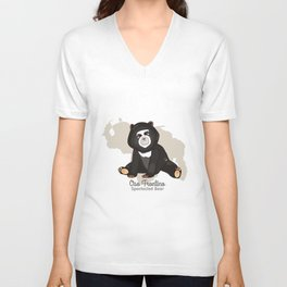 Oso Frontino/Spectacled Bear Unisex V-Neck