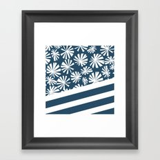 Fan Palm - Midnight Framed Art Print