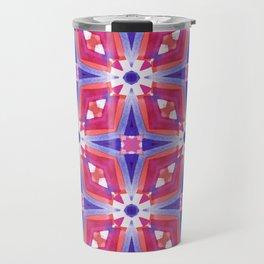Watercolor Geometry Mod Pink Travel Mug