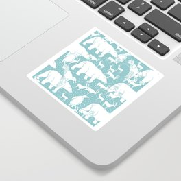 Polar gathering (peppermint) Sticker