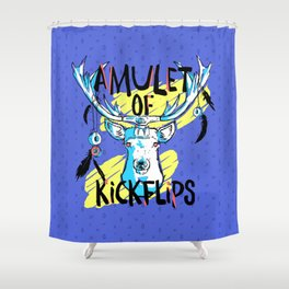 Amulet of Kickflips Shower Curtain