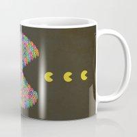 pacman Mugs featuring PACMAN by gazonula