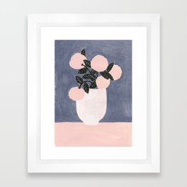 Posy Blue Framed Art Print