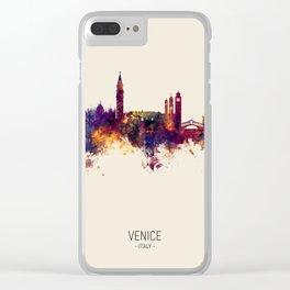 Venice Italy Skyline Clear iPhone Case