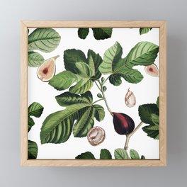 Figs White Framed Mini Art Print