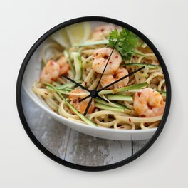 Prawn And Courgette Linguine Wall Clock