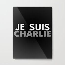 Je Suis Charlie Simple Print Metal Print