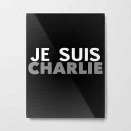 Je Suis Charlie Simple Print Metal Print