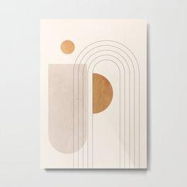 Minimal Geometric 104 Metal Print