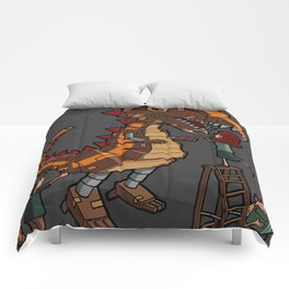 Helicopter Parents - T-Rex Comforters