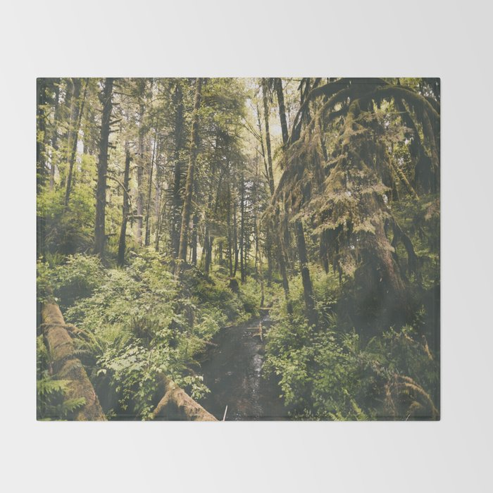 Forest XIV Throw Blanket